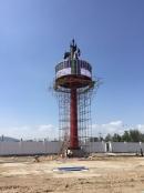西二环车管所北蒙亮360度圆柱形屏